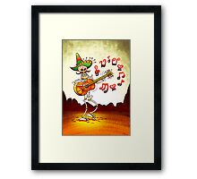 Mexican Skeleton Playing Guitar Framed Print