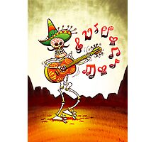 Mexican Skeleton Playing Guitar Photographic Print