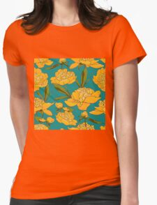 floral background with peonies  T-Shirt