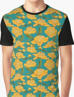 floral background with peonies  Graphic T-Shirt