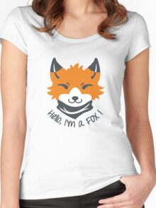 Hello, I'm a FOX! Women's Fitted Scoop T-Shirt