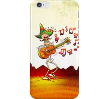 Mexican Skeleton Playing Guitar iPhone Case/Skin