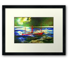 My digital painting of The South Goodwin Light Vessel Framed Print