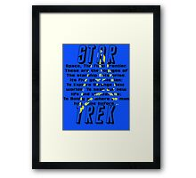 Space! The Final Frontier Framed Print
