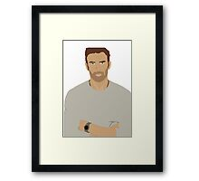 Chris Evans Rotoscope Framed Print