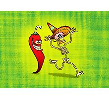 Hot Chili Pepper Nightmare for a Mexican Skeleton Photographic Print
