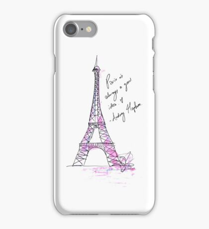 Paris is always a good idea: Hepburn iPhone Case/Skin
