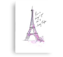 Paris is always a good idea: Hepburn Canvas Print