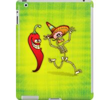 Hot Chili Pepper Nightmare for a Mexican Skeleton iPad Case/Skin