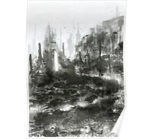 Black and White Jungle Poster