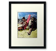 Surfer Boy Relaxing Framed Print