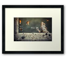 Got Him! Framed Print