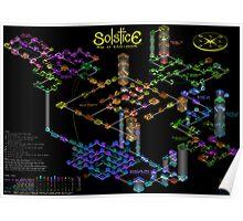 Solstice castle map Poster