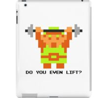 Do You Even Lift? 8-bit Link Edition v2 iPad Case/Skin