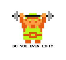 Do You Even Lift? 8-bit Link Edition v2 Photographic Print