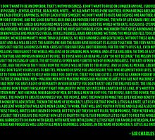 Charlie Chaplin - The Great Dictator Speech Green by nicolopicus7