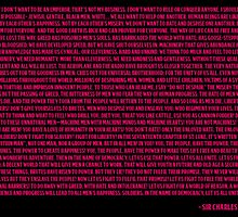 Charlie Chaplin - The Great Dictator Speech Pink by Truly Horrifying