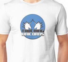 Touching Unicorns BlueLogo Unisex T-Shirt