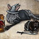 The Hobbit Bunnies by quietsnooze