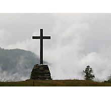 Cross in the Clouds Photographic Print