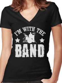 I'm with the band!  Women's Fitted V-Neck T-Shirt