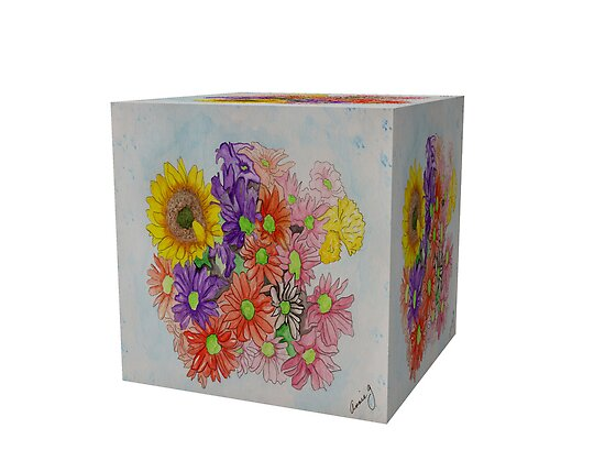 A Cube of Flowers by Anne Gitto