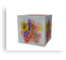 A Cube of Flowers Canvas Print