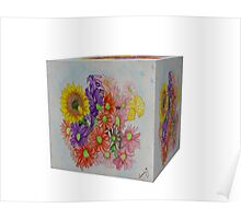 A Cube of Flowers Poster