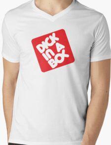 Dick in a Box Retro Mens V-Neck T-Shirt