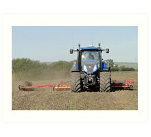 389 Horses Sowing Wheat Art Print