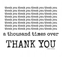 thank you~ by Brandi Burdick