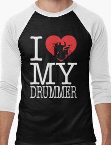 I love my drummer Men's Baseball ¾ T-Shirt