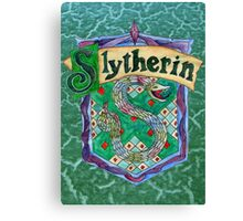 Slytherin House Crest Canvas Print