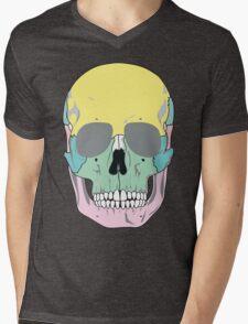 FUNKY SKULL (POP ART STYLE) Mens V-Neck T-Shirt