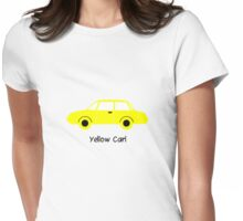 Yellow Car (01) Womens Fitted T-Shirt