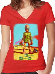 BREAKING STRONG BAD Women's Fitted V-Neck T-Shirt
