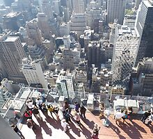 Taking Photos of New York City from Top of the Rock Observation Deck, New York City by lenspiro