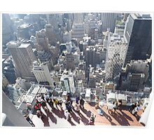 Taking Photos of New York City from Top of the Rock Observation Deck, New York City Poster