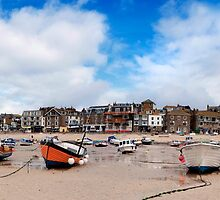 Fishing Boats at Low Tide, St Ives,Cornwall by cameraimagery
