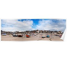 Fishing Boats at Low Tide, St Ives,Cornwall Poster