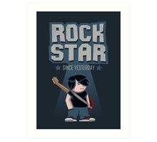 Rock Star Art Print