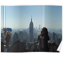 Photographing New York City from Above, Top of the Rock Observation Deck, New York City Poster