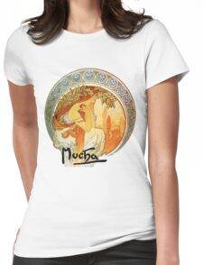 Mucha – Poetry Womens Fitted T-Shirt