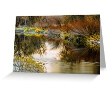 Autumn River Reflections Greeting Card