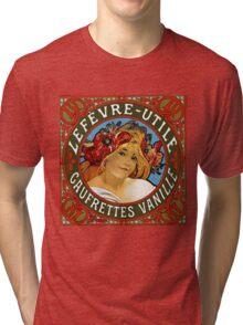 Mucha - Vinille LeFevere-Utile Tri-blend T-Shirt