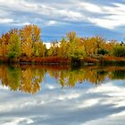 Autumn Lake Reflections by Photopa