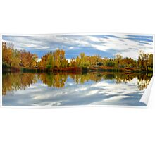 Autumn Lake Reflections Poster