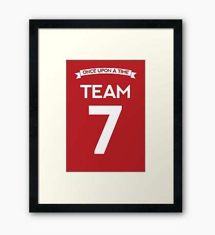 Once Upon a Time - Team 7 - Red Framed Print