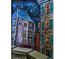 Watercolor Sketch - Genève, Old Town.  A Passage off Rue Bemont. 2013 Photographic Print