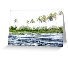 Water rippling in the coastal lagoon Greeting Card